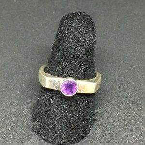 Jewelry - Sterling silver ring size 7 1/4 amethyst